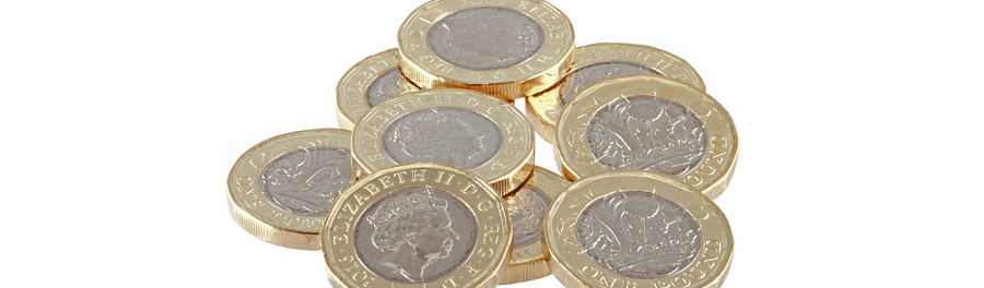 Pound coins used to pay for cheap PO Boxes with UK street addresses