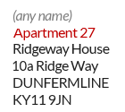 Example of a mailbox ID address in Cambridgeshire - Apartment
