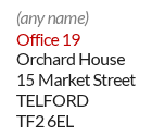 Example of a generic mailbox ID address in Fife