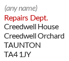Example of a departmental mailbox ID address in the South West