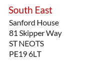 UK accommodation address example - Cambridgeshire, South East